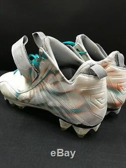#14 Jarvis Landry Miami Dolphins Game Used Signed Custom Cleats Jsa Coa