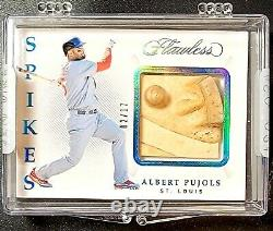 #/17 ALBERT PUJOLS 2019 Flawless ACTUAL Game Used SPIKE / CLEAT Ultra RARE 1