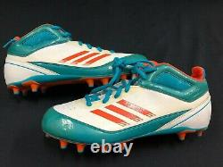 #17 Ryan Tannehill Miami Dolphins Game Used Team Issued Adidas Cleats Size 12.5