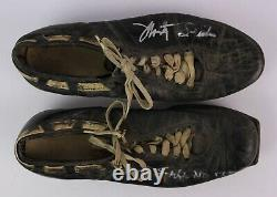 1957-59 Monty Stickles, Notre Dame Tight End, Game Used & Signed Cleats, Mears