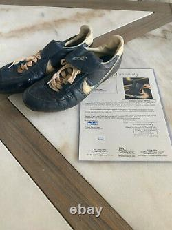 1984-1989 Dwight Doc Gooden Mets Game Used Autographed Cleats Auto JSA MEARS