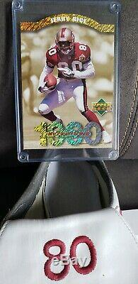 1996 San Francisco 49ers Jerry Rice Signed GAME USED Cleat Photomatched LOA AUTO