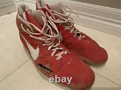 1998 MARK MCGWIRE SIGNED St Louis Cardinals Game Worn Used Cleats Shoes No Bat