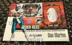 1999 Fleer Ex Authen-kicks Dan Mario Game Used Cleat Shoe Relic Card Rare A