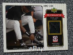 2001 Michael Jordan MJ SALUTE Game Used Shoe Cleats 055/100 DAMAGE