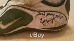 2002 Brett Favre Packers Game Used Shoes Cleats Autographed