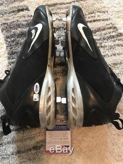 2005 Miguel Cabrera Autograph Game Used Cleats FREE SHIPPING Tigers Marlins COA
