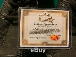 2008 Ivan Rodriguez Game Used / Worn Verdero Cleats Signed Elite / Celebz COA