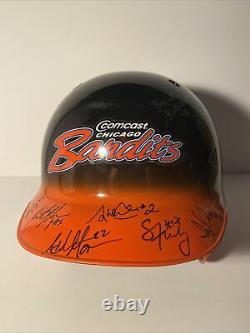 2009 Chicago Bandits Softball NPF Team Signed Batting Helmet Game Used J Finch