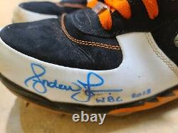 2013 Andruw Jones Wbc Game Used Pe Air Jordan Autographed Cleats Holo! Fusion V
