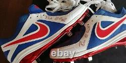 2013 Robinson Cano WBC Signed game issued non used cleats Autographed JSA COA