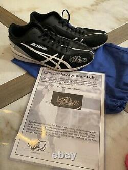 2014 Ichiro Game Used Auto Turf Shoes Cleats Autographed Authentic Beckett