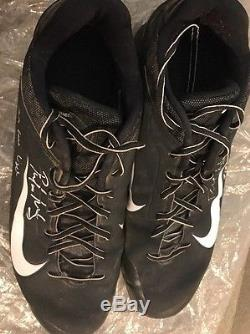 2014 Paul Goldschmidt Game Used Cleats! Signed And Inscribed! MLB & Fanatics