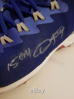 2015 Dexter Fowler Game Used PE Air Jordan Autographed Cleats! Cubs! COA