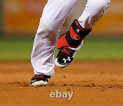 2015 Mookie Betts Game used worn & dual signed spikes Photo matched Nice