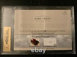 2015 The Bar Mike Trout Game Used Nike Nike Cleats Nike Swoosh Cut Auto 1/1
