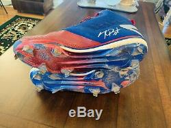 2016 Kris Bryant Game Used Cleat Fanatics MLB Authentic World Series Cubs Worn