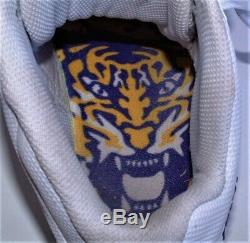 2016 Lsu Tigers Game Worn Game Used Nike Skin Alpha Pro Pe Football Cleats 12