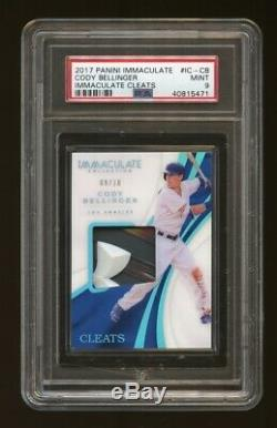 2017 Immaculate Cleats Cody Bellinger RC Game-Used #/10 PSA 9 MINT GMCARDS