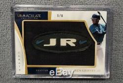 2017 Immaculate Cleats Ken Griffey Jr. Mariners Game Used Cleat Patch 6/6 1/1
