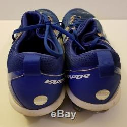 2017 Kyle Schwarber Game Used Signed Cleats! Chicago Cubs! COA LOA