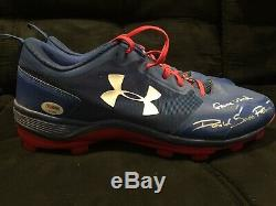 2018 D. J. Peters Game Used Worn Signed Cleats X2 PSA/DNA Dodgers Bowman Auto