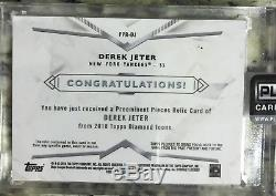 2018 Diamond Icons Derek Jeter Preeminent Pieces Game Used Cleat Relic /10