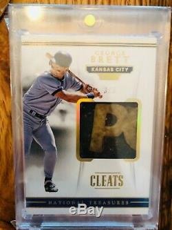 2018 National Treasures Baseball George Brett Game Used Cleats/3! Amazing