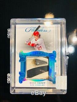 2018 Panini Flawless Mike Trout Game-used Spikes #14/17-dirty Cleats