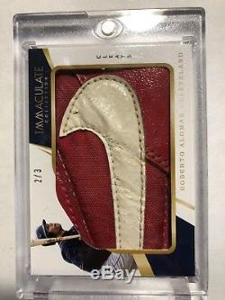 2018 Panini Immaculate Roberto Alomar Game Used Cleat Relic # 2/3