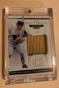 2018 Panini National Treasures Don Mattingly Game Used Cleat Relic /6