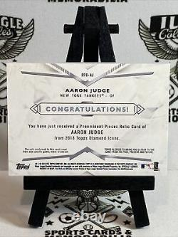2018 Topps Diamond Icons Aaron Judge GAME USED CLEAT 10/10 Nationals #PPR-AJ