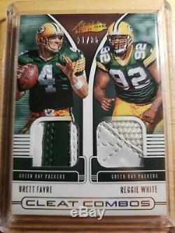 2019 Absolute Brett Farve Reggie White Cleat Combos Game Used Dual Relic #/35