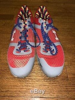 2019 Cubs Willson Contreras Game Used Signed Under Armour Cleats MLB Hologram