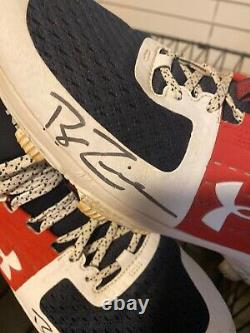 2019 Nationals Ryan Zimmerman Signed Auto Game Used Under Armour Cleats MLB COA