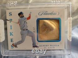 2019 Panini Flawless Albert Pujols Game-Used Relic Cleat Spikes #/17