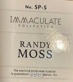 2019 immaculate NFL Sneak Peek Randy Moss HOF 5/5 game used cleat sneaker RARE