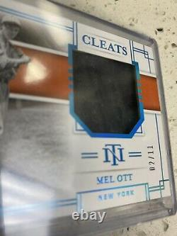 2020 National Treasures MEL OTT Game Used Cleats Relic HOF 2/11 FIELD OF DREAMS