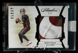 2020 Panini Flawless MATT RYAN Game Used Filthy Shoe Cleat eBay 1/1 #'d 5/5