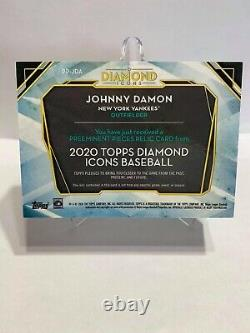 2020 Topps Diamond Icons Johnny Damon 1/1 Game Used Cleat Card! Super rare