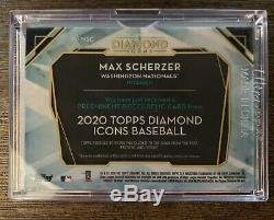 2020 Topps Diamond Icons Max Scherzer Cleat Relic /5 Nike Logo Patch Game Used