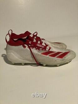 ANDREW ADAMS Tampa Bay Buccaneers GAME WORN USED Adidas CLEATS Super Bowl Champ