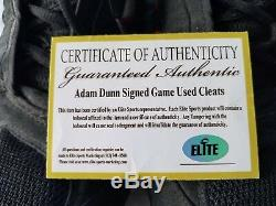 Adam Dunn Cincinnati Reds Autographed Game Used Baseball Custom Cleats #44 COA