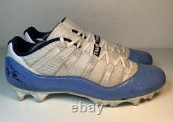 Air Jordan 11 UNC North Carolina Sample PE Game Used Cleats Size 12.5 Tar Heels