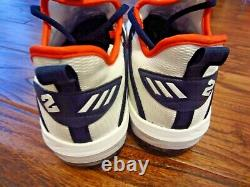 Alex Bregman 2019 Houston Astros Game Un Used Custom Adidas Cleats AUTO x 2