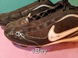 Alex Gordon GU Game Used Signed Cleats Kansas City Royals KC Black Nike's