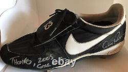 Alex Rodriguez (NY Yankees) Game Used Autographed Inscribed Cleats (AROD LOA)