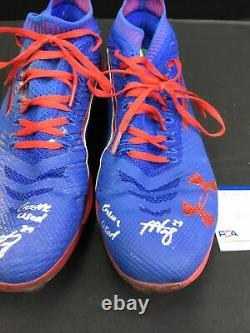 Alex Verdugo Dodgers Boston Red Sox Signed Game Used Cleats Psa Ah22081 / 80