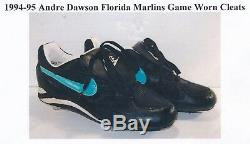 Andre Dawson 1990's Game Used Autographed Marlins Cleats LOA