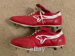 Andy Van Slyke Signed Game Used Cleats St. Louis Cardinals Pittsburgh Pirates